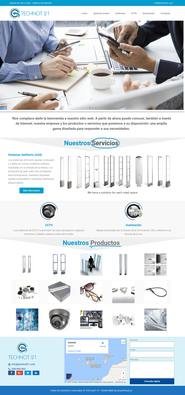 diseño web corporativo empresa de seguridad