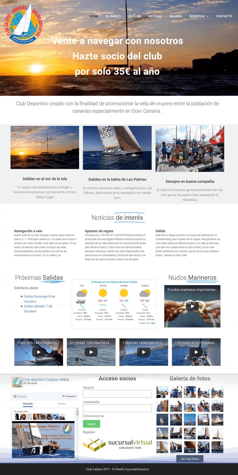 diseño web para asociacion deportiva en Las Palmas