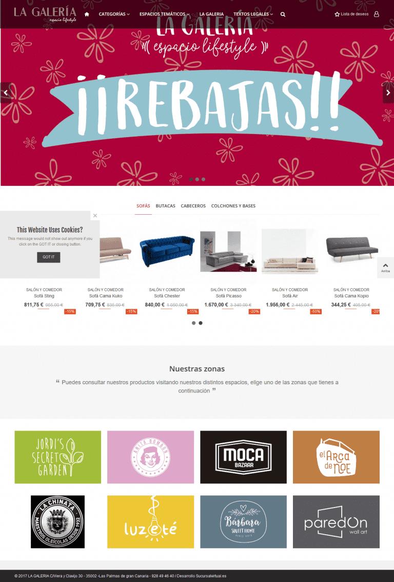 Catálogo virtual para tienda en las palmas de Gran Canaria