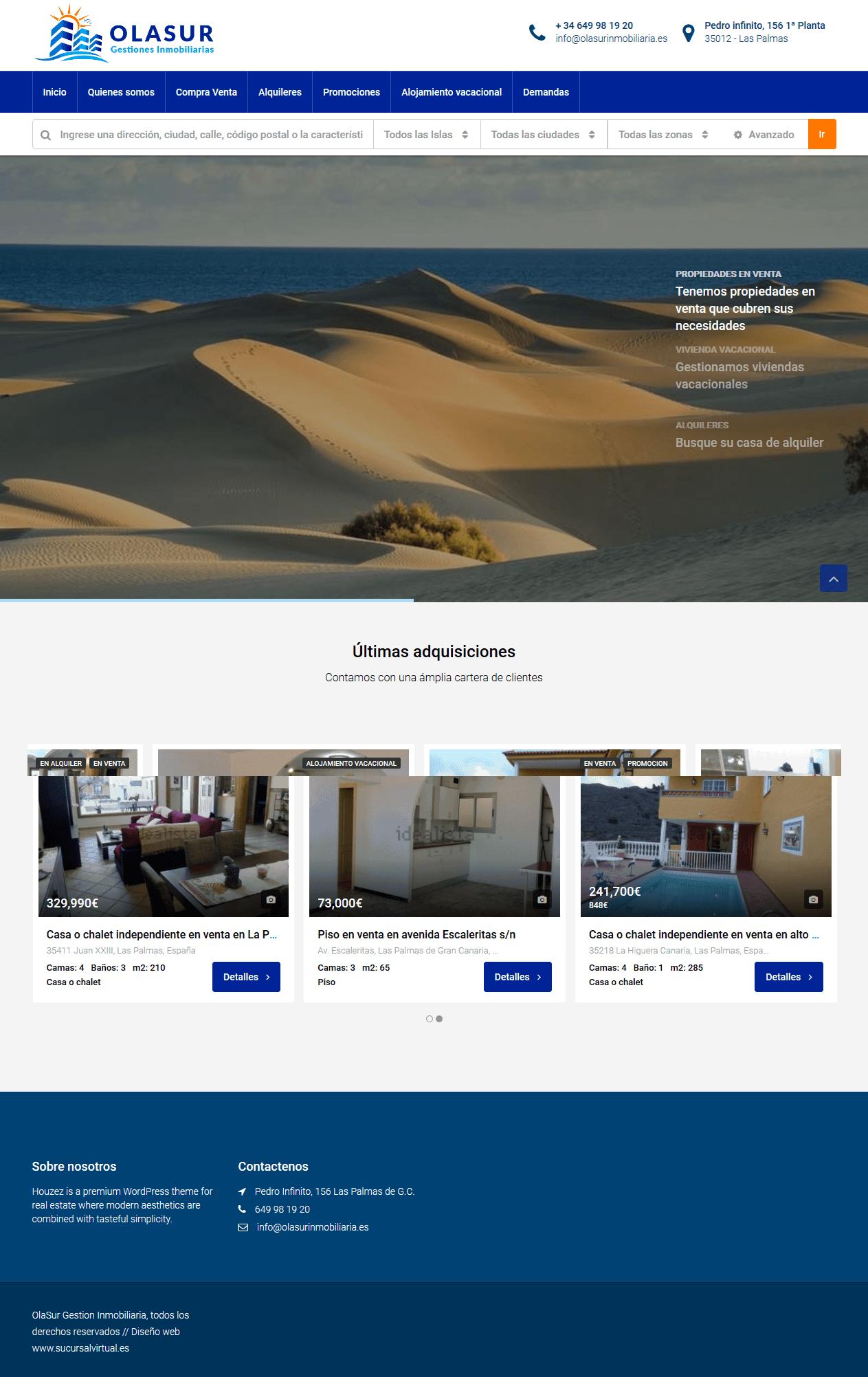 diseño web para inmobiliaria con reservas online