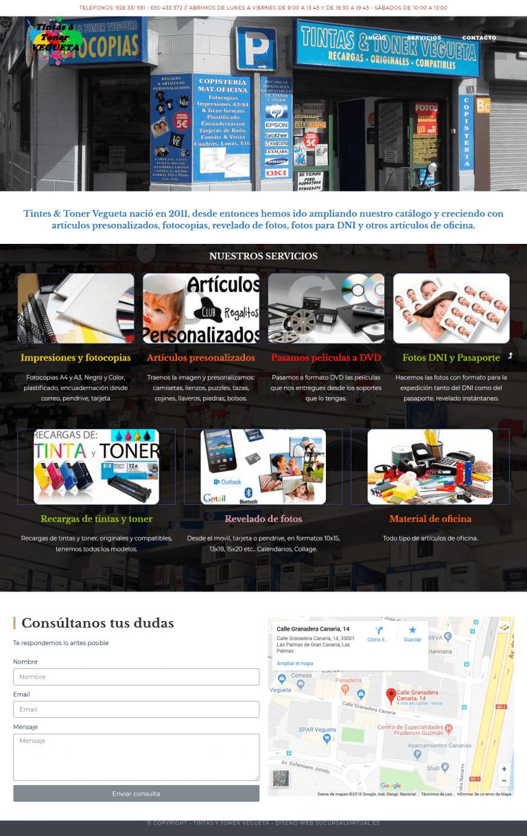 Diseño web sencillo para autónomo