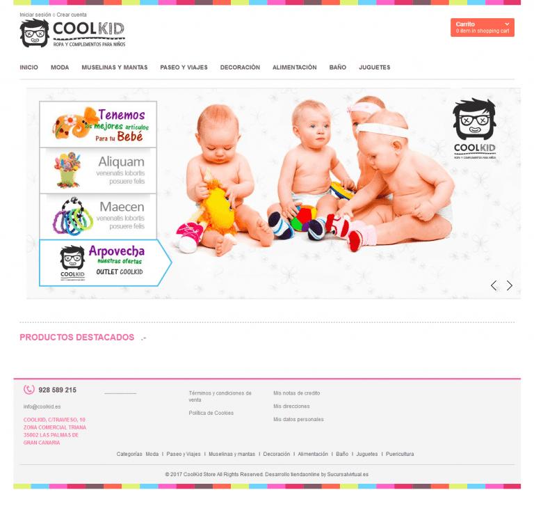 Tienda online de ropa para niños